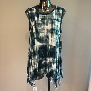 Simply Vera green tie dye tank Sz Small